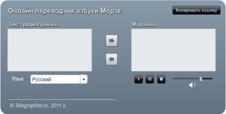 Онлайн переводчик кода морзе, азбука код морзе,
