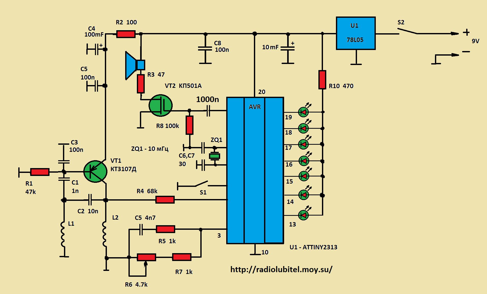 схема металлоискателя tracker fm 3