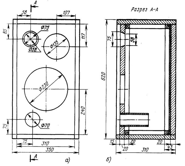 конструкция трехполосной ас