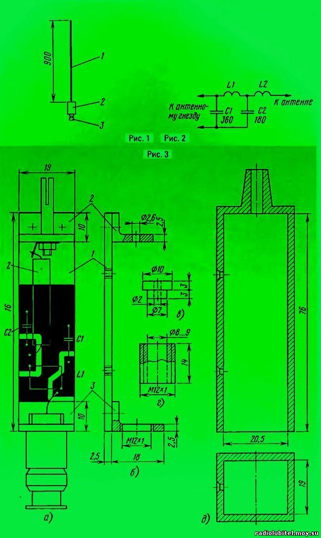 Антенна для портативной СИ-БИ радиостанции